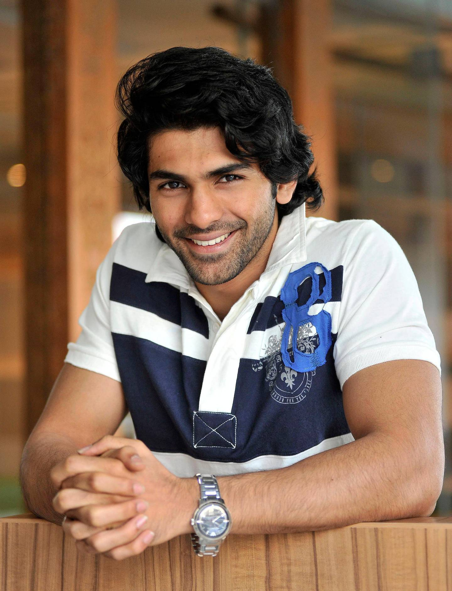 Taaha Shah, an up and coming Bollywood actor born and grew up in the UAE, at his uncle's restaurant, Moti Mahal, on Thrsday, April 25, 2013 in Dubai, United Arab Emirates. Photo: Charles Crowell for The National