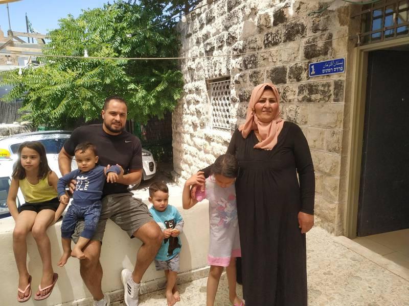 The Sumarin family. David Shulman / Peace Now