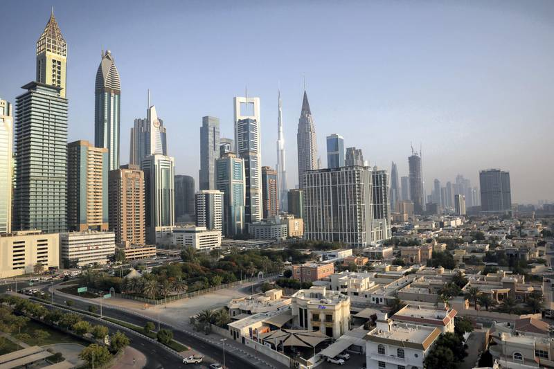 A general view of the Burj Khalifa and the downtown skyline in Dubai, United Arab Emirates, June 12, 2021. Picture taken June 12, 2021.