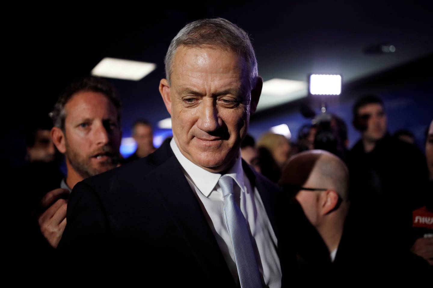 Benny Gantz, head of Resilience party is seen after a news conference, in Tel Aviv, Israel February 21, 2019. REUTERS/Amir Cohen