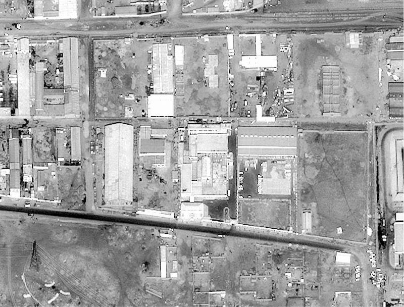This satellite image released by the US Department of Defense 20 August shows the Shifa Pharmaceutical Plant in Khartoum, Sudan, which the Pentagon says was producing components for making chemical weapons before the 20 August attack by US cruise missiles.  The United States attacked targets in Afghanistan and Sudan with approximately 75 cruise missiles for their links to the 07 August terrorist bombings in Nairobi and Dar es Salaam.             AFP PHOTO/DOD (Photo by DOD / AFP)