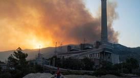 Turkish bushfires reach power station near Bodrum