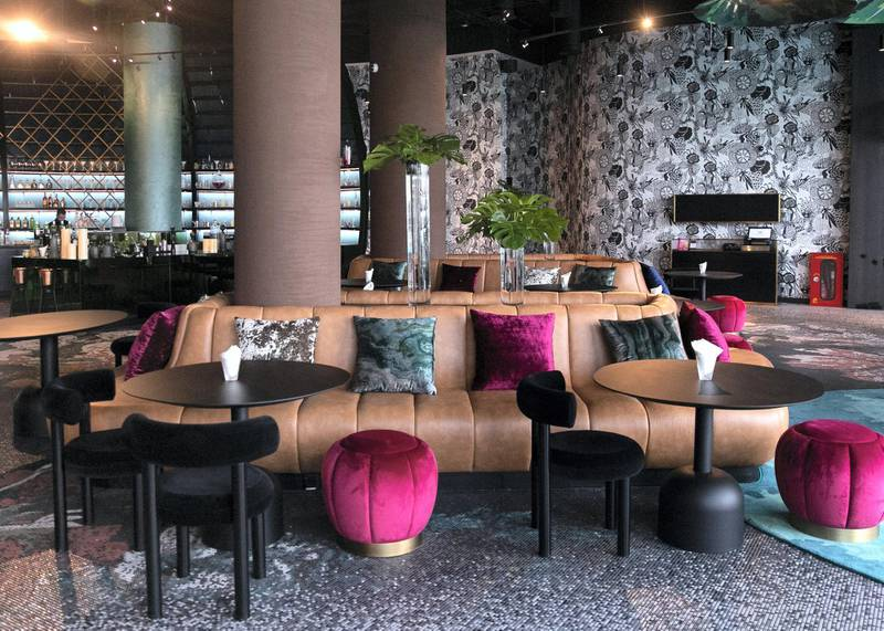 ABU DHABI, UNITED ARAB EMIRATES. 20 NOVEMBER 2019. W Lounge at W Abu Dhabi in Yas Island. W Lounge offers views of the marina and the race track. (Photo: Reem Mohammed/The National)Reporter:Section: