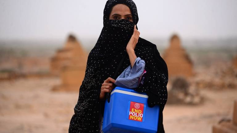An image that illustrates this article Polio eradication is within global reach