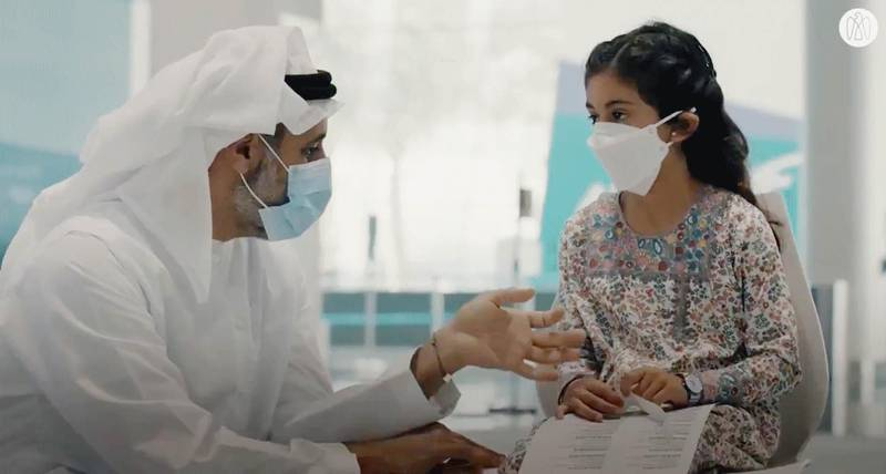 Theyab bin Mohamed bin Zayed and his sons and nephews join parents and nephews in Abu Dhabi to volunteer in the complementary study of the immune response to the Sinopharm vaccine for children aged 3 to 17 years. Photo: Abu Dhabi Media Office