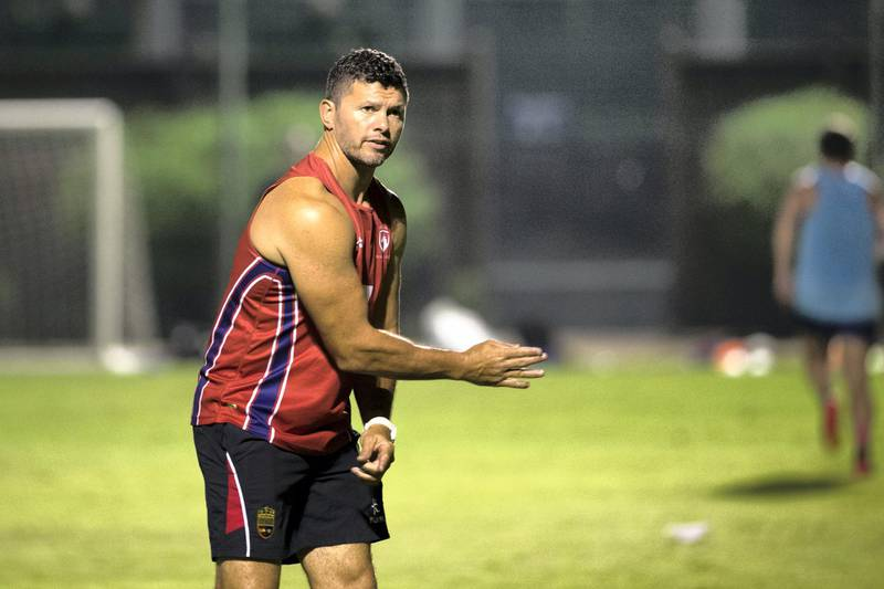 DUBAI, UNITED ARAB EMIRATES - OCT 16:Coach Henry Paul of Jebel Ali Dragons training ahead of West Asia Premiership match against DSC Eagles.(Photo by Reem Mohammed/The National)Reporter: Paul Radley Section: SP