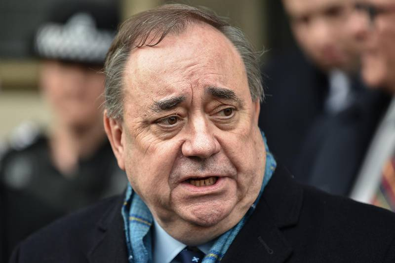 EDINBURGH, SCOTLAND - MARCH 23: Former Scottish First Minister Alex Salmond departs Edinburgh High Court on March 23, 2020 in Edinburgh, Scotland. Alex Salmond has been cleared of sexual assaulting nine women while he was Scotland's first minister. The jury found the former SNP leader not guilty on 12 of the sexual assault charges facing him, while another was found not proven, a further charge of sexually assaulting a 10th woman had previously been dropped by prosecutors. (Photo by Jeff J Mitchell/Getty Images)