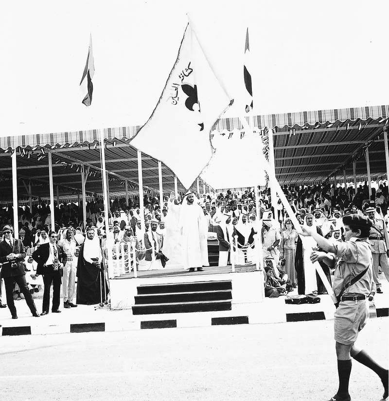 December 2, 1972-The late Sheikh Zayed attending the 1st celebration of UAE national day in 1972Courtesy Al Ittihad