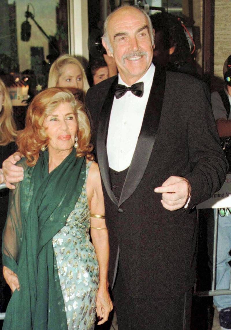 Film star Sean Connery, best known for his portrayal of Ian Fleming's James Bond, arrives with his wife Micheline at New York's famed Avery Fisher Hall at Lincoln Center for the Film Society of Lincoln Center's gala Tribute to Connery and his film career, May 5.  TRIBUTE CONNERY