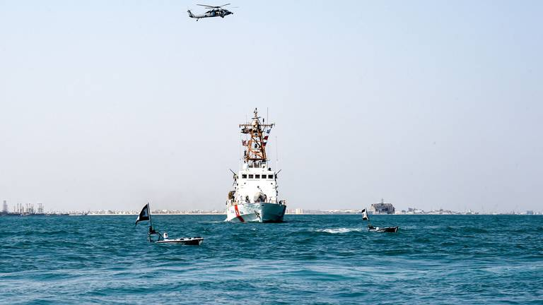 An image that illustrates this article Bahrain and US navies take part in joint drills in the Arabian Gulf - in pictures