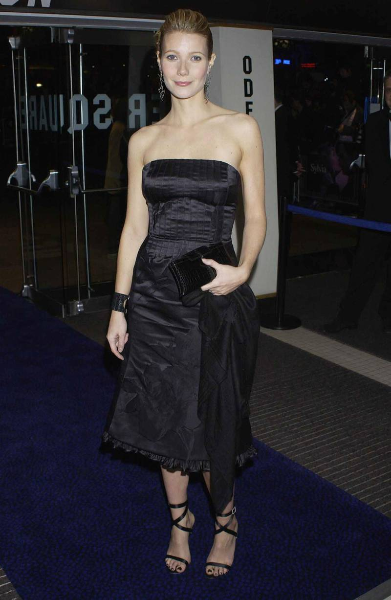 LONDON - NOVEMBER 6:  Gwyneth Paltrow attends The Times BFI London Film Festival Closing Gala Premiere of Sylvia, at the Odeon Leicester Square on November 6, 2003 in London. (Photo by Will Conran/Getty Images)