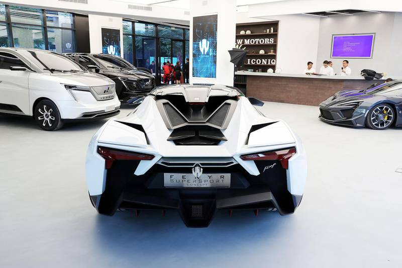 DUBAI , UNITED ARAB EMIRATES , NOV 29  – 2017 :- Cars on display during the opening of  W Motors at the City Walk 2 Boulevard in Dubai (Pawan Singh / The National) Story by Adam Workman