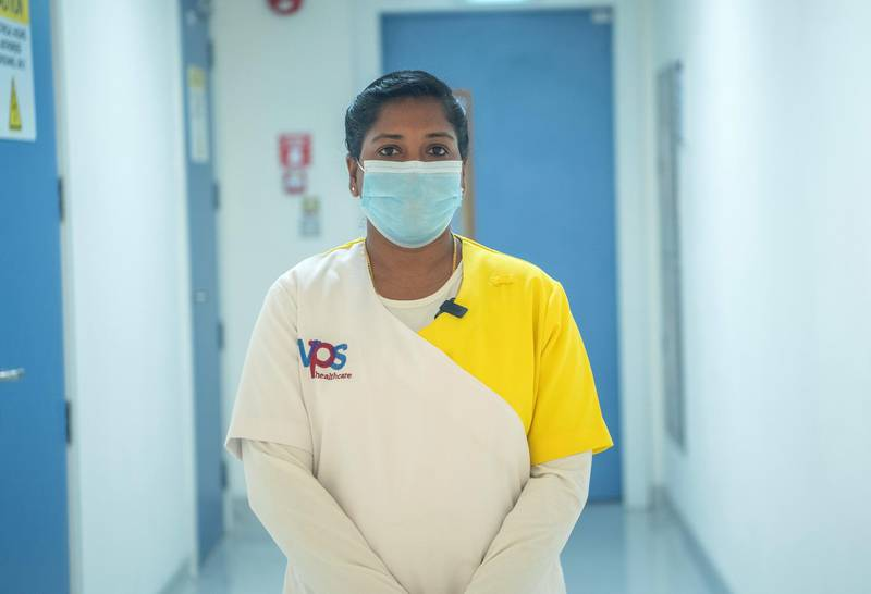 Ambili NB_ after joining duty at a VPS Healthcare Hospital