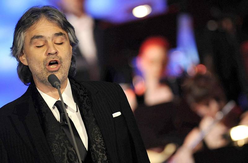 Mandatory Credit: Photo by Giuseppe Aresu / Rex Features ( 831364g )  Andrea Bocelli  'Che Tempo Che FA' TV Programme, Milan, Italy - 10 Dec 2008  Italian operatic pop tenor Andrea Bocelli has appeared on the 'Che Tempo Che FA' TV show in his native Italy to promote his latest CD 'Incanto'. As part of the the special show, famed New York City restaurant Le Cirque participated by hosting a live, satellite link-up with special guests including Donald Trump, Kerry Kennedy, David Foster and acclaimed pianist Lang Lang, all paying tribute to Andrea.