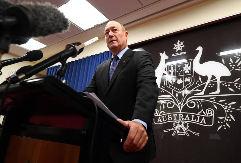 epa07446329 Senator Fraser Anning speaks during a press conference in Brisbane, Australia, 18 March 2019. The Senator has been widely criticised for posting an anti-muslim statement in regards to the New Zealand mosque attacks.  EPA/DAN PELED  AUSTRALIA AND NEW ZEALAND OUT