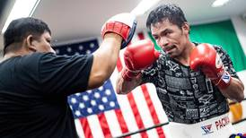 Manny Pacquiao back in training with 'big news coming soon'
