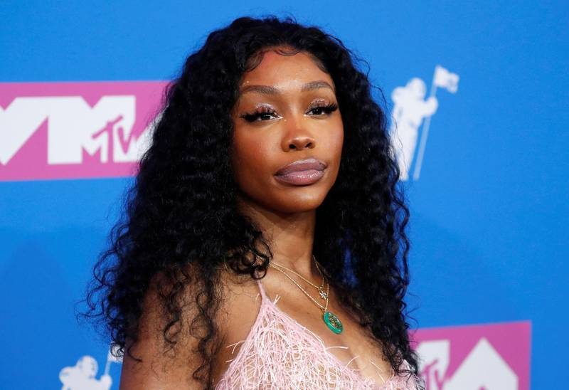 FILE PHOTO: 2018 MTV Video Music Awards - Arrivals - Radio City Music Hall, New York, U.S., August 20, 2018. - SZA. REUTERS/Andrew Kelly/File Photo