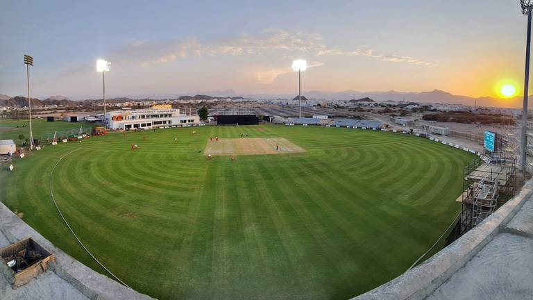 An image that illustrates this article 10 years on from playing on sand, Oman cricket set to welcome the world