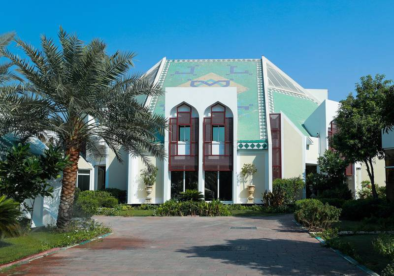Abu Dhabi, U.A.E., October 3, 2018. A well known house in the neighborhood for it's unique architecture.Victor Besa/ The NationalSection:  NAReporter:  Haneen Dajani