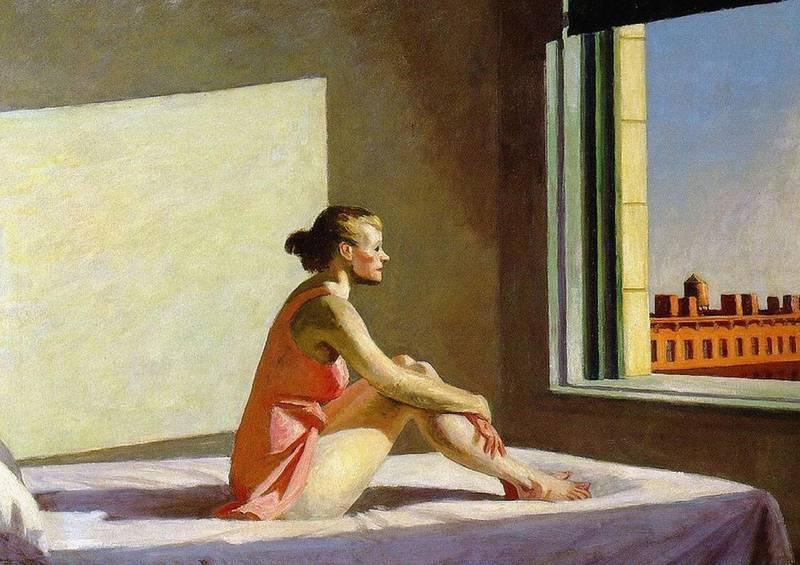 E033CJ Edward Hopper Morning Sun. Alamy