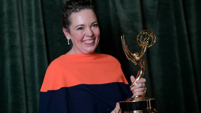 An image that illustrates this article Emmys 2021: 'The Crown' and 'Ted Lasso' win top honours