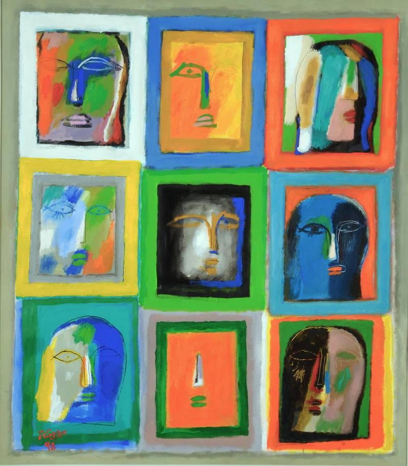 Ismail Fattah- 1998-Acrylic on Canvas
