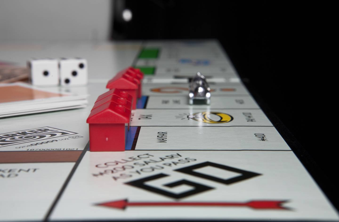 November 30 2010, Abu Dhabi, UAE:  ATTENTION NATHAN ESTEP:  For a story about property taxes. The images use a monopoly board to illustrate an article about real estate and financing in the UAE.  Lee Hoagland/ The National
