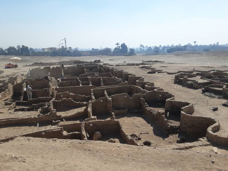A new archaeological discovery is seen in Luxor, Egypt, in this undated handout photo. Zahi Hawass Center for Egyptology and High Council of Antiquities Joint Mission/Handout via Wam