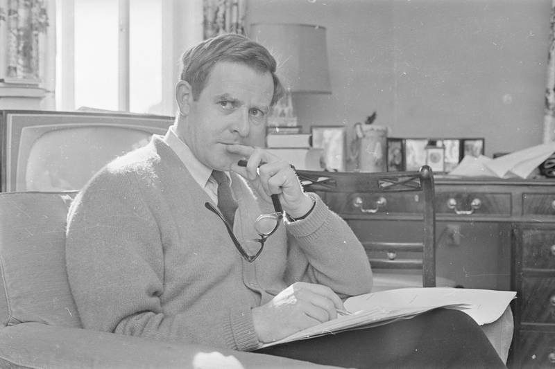 March 1965:  English writer and spy novelist John Le Carre.  (Photo by Terry Fincher/Express/Getty Images)