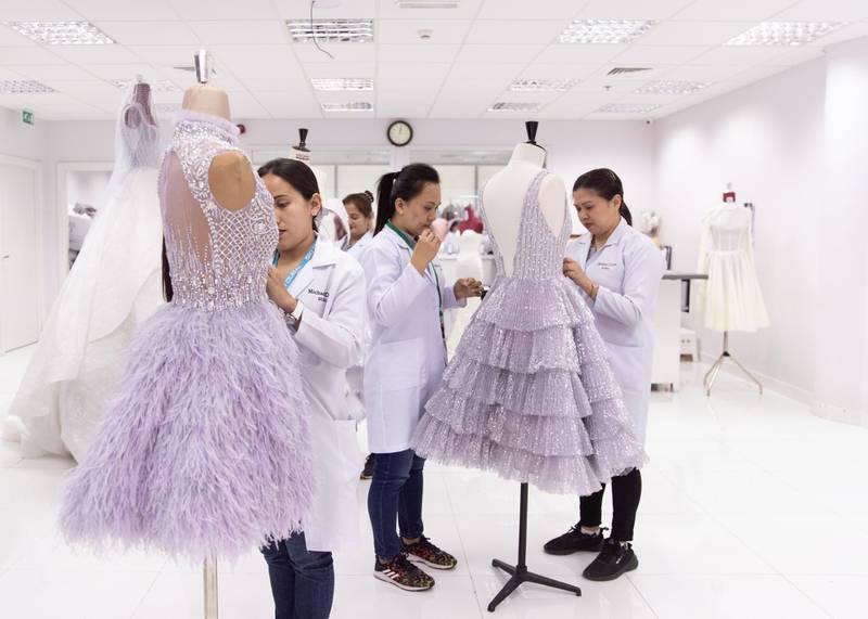 DUBAI, UNITED ARAB EMIRATES - JULY 25 2019. Dubai-based Filipino designer Michael Cinco's atelier in Dubai Design District.  (Photo by Reem Mohammed/The National)   Reporter: EMMA Section: LX