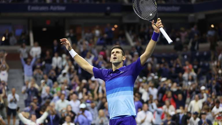 An image that illustrates this article Djokovic sees off Zverev to set up US Open final against Medvedev