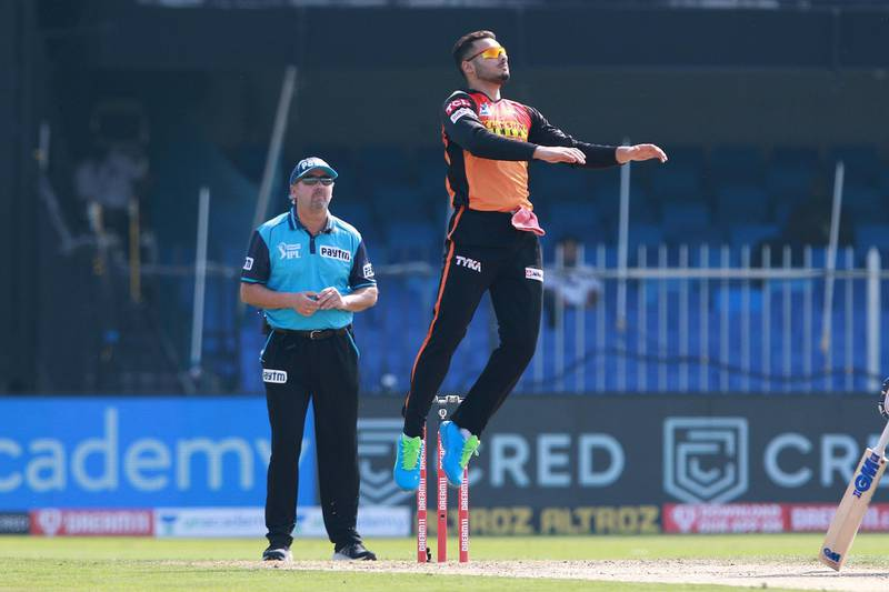 Abdul Samad of Sunrisers Hyderabad during match 17 of season 13 of the Indian Premier League (IPL ) between the Mumbai Indians  and the Sunrisers Hyderabad held at the Sharjah Cricket Stadium, Sharjah in the United Arab Emirates on the 4th October 2020.  Photo by: Rahul Gulati  / Sportzpics for BCCI
