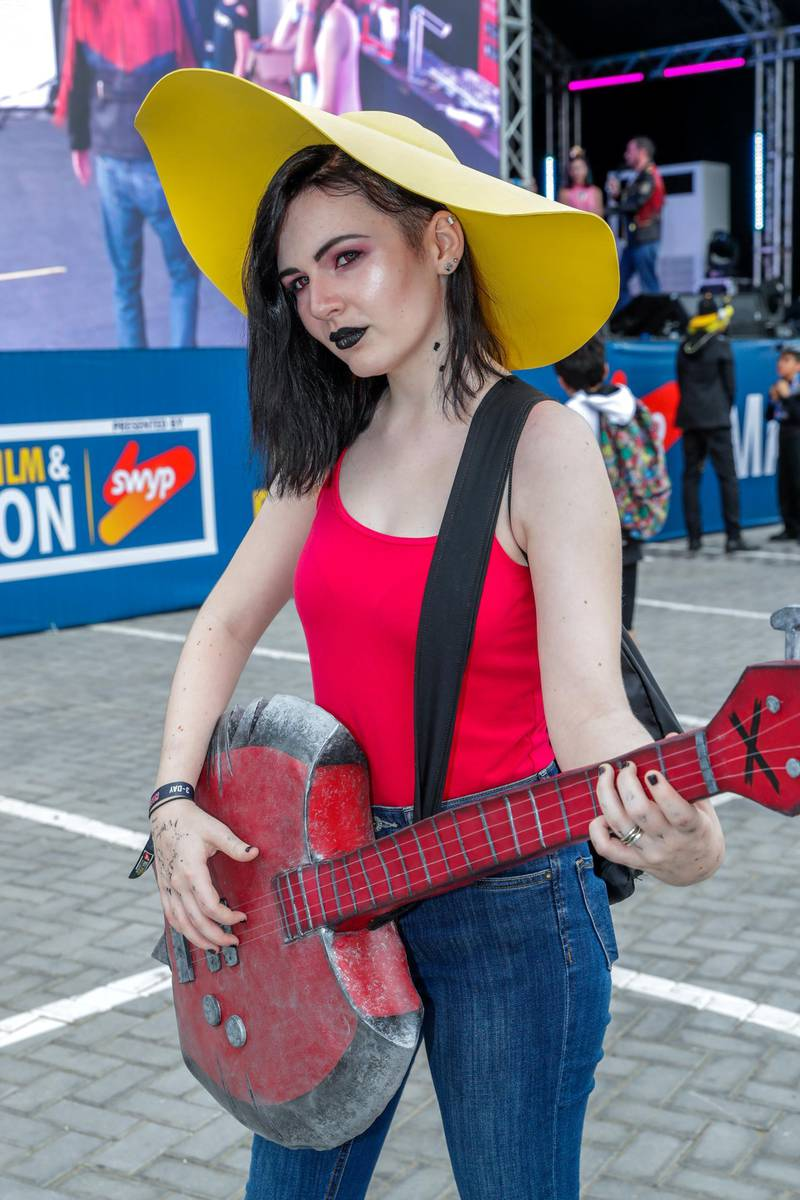 Dubai, April 12, 2019.  MEFCC day 2-Comic Con goers at full swing on day 2.  Caoimhe Doherty as Marceline from Adventure Time.Victor Besa/The National.Section:  AC  Reporter:  Chris Newbould