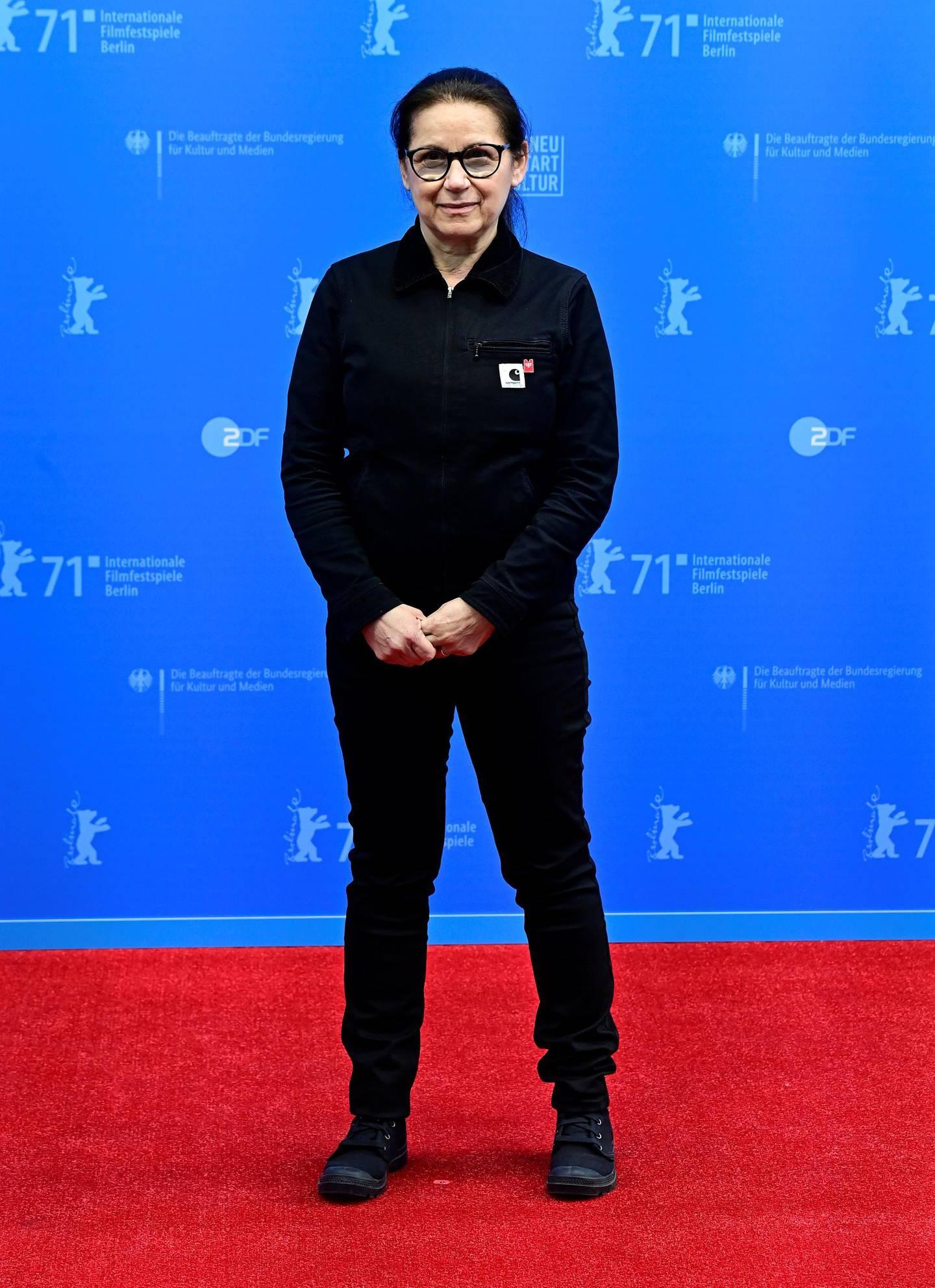 "Member of the International Jury, Hungarian director Ildiko Enyedi, poses at the 71st Berlinale International Film Festival ahead the awarding ceremony during the ""Berlinale Summer Special"" film festival in Berlin, Germany June 13, 2021. Tobias Schwarz/Pool via REUTERS"