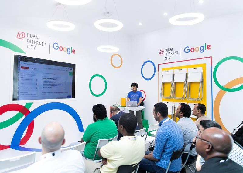 DUBAI, UNITED ARAB EMIRATES. 06 OCTOBER 2019. Dubai Internet City booth at Gitex Technology Week at Dubai World Trade Center.(Photo: Reem Mohammed/The National)Reporter:Section: