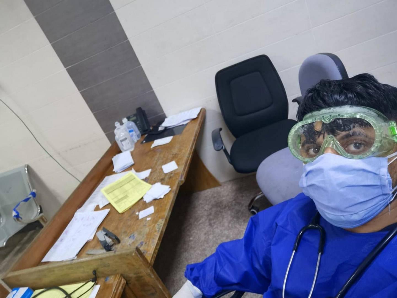 Abdul Wahid Al Jubouri, resident doctor at Ibn Sina hospital in Mosul. courtesy: Dr Al Jubouri.