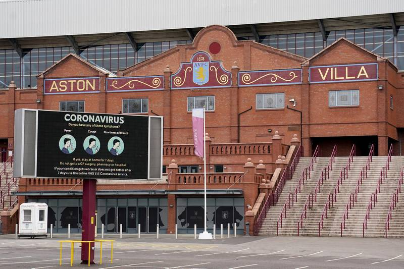File photo dated 19-03-2020 of Villa Park, home of Aston Villa. PA Photo. Issue date: Thursday January 14, 2021. The Premier League has announced Sunday's match between Aston Villa and Everton has been postponed. See PA story SOCCER Coronavirus. Photo credit should read Morgan Harlow/PA Wire.