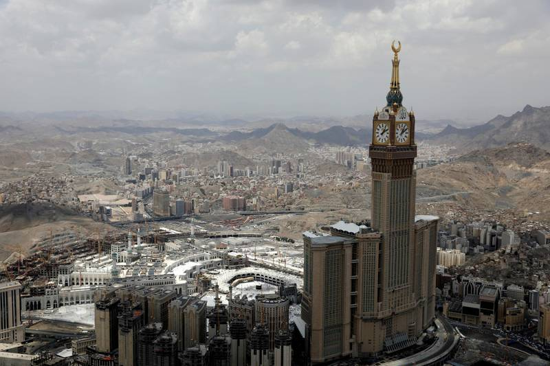 FILE PHOTO: An aerial view of Kaaba at the Grand mosque in the holy city of Mecca, Saudi Arabia August 12, 2019. REUTERS/Umit Bektas/File Photo