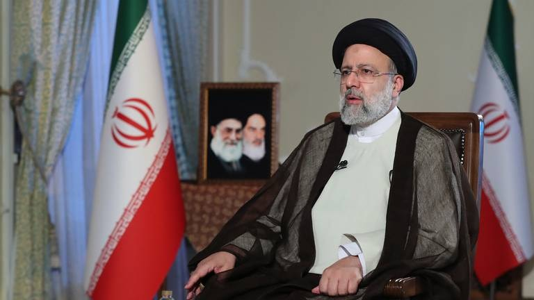 An image that illustrates this article Iran's Raisi says US should lift sanctions ahead of restarting talks