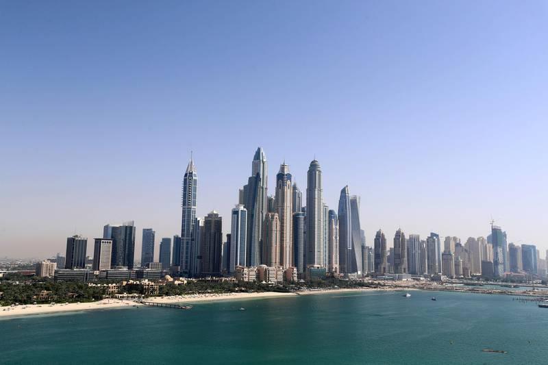 Dubai, United Arab Emirates - May 02, 2019: Stock picture of Dubai Marina. Thursday the 2nd of May 2019. FIVE, Dubai. Chris Whiteoak / The National