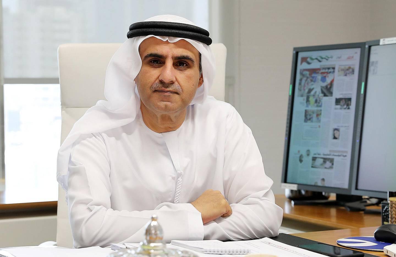 ABU DHABI , UNITED ARAB EMIRATES , JUNE 19 – 2018 :- Ali Bin Tamim , Head of Abu Dhabi Media at his office in Abu Dhabi.  ( Pawan Singh / The National )  For News. Story by Shareena