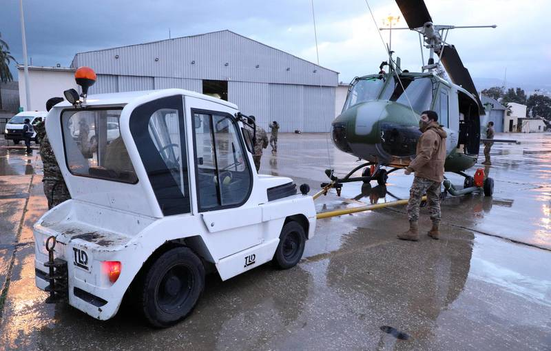 Huey helicopters provided by the US. Courtesy Lebanese Army