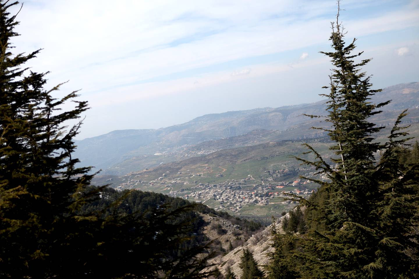 3/19/2009 Barouk, LebanonThe village of Barouk sits below the Cedar Reserve. Human encroachment and logging over the past 1000 years has played a large part in the shrinking Cedar population in Lebanon, with many trees being cut down by colonial forces to aide in the building of railroad lines in the region.