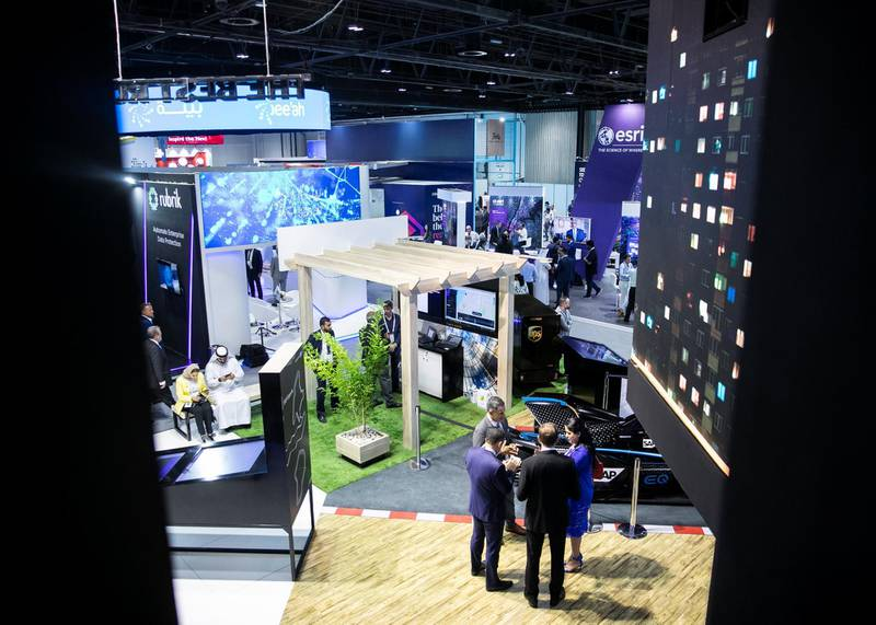 DUBAI, UNITED ARAB EMIRATES. 06 OCTOBER 2019.  SAP's booth during Gitex Technology Week at Dubai World Trade Center.(Photo: Reem Mohammed/The National)Reporter:Section:
