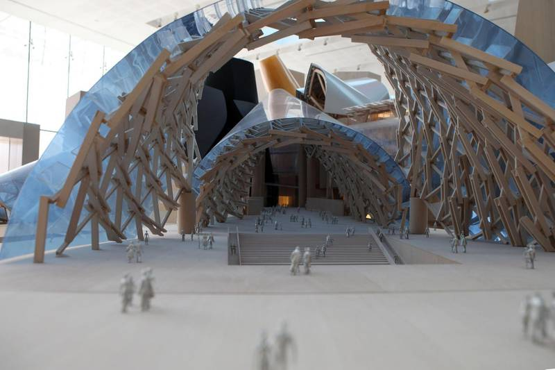 United Arab Emirates - ABu Dhabi - September 16th, 2010:  A scale mold of the Guggenheim to be built on Saadiyat Island.  (Galen Clarke/The National)