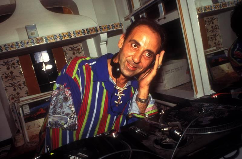 Mandatory Credit: Photo by Tony Davis/Pymca/Shutterstock (3495711a)DJ Jose Padilla, Cafe Del Mar, Ibiza 1994STOCK