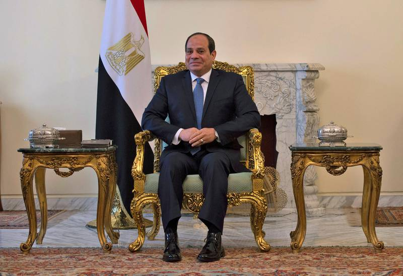 FILE PHOTO: Egyptian President Abdel Fattah al-Sisi is pictured during his meeting with the U.S. Secretary of State Mike Pompeo in Cairo, Egypt, January 10, 2019. Andrew Caballero-Reynolds/Pool via REUTERS/File Photo