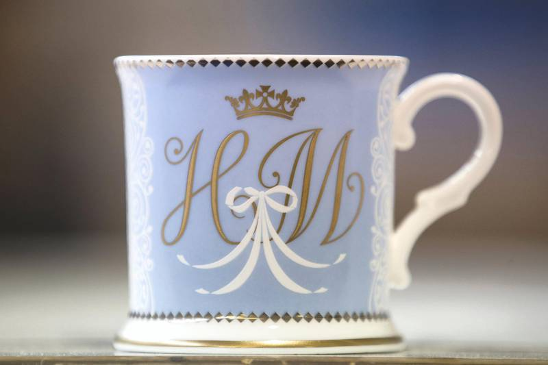 The official tankard for the official Royal collection Trust's commemorative china range for Prince Harry and Meghan Markle's wedding.