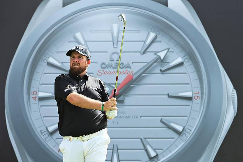 DUBAI, UNITED ARAB EMIRATES - JANUARY 23: Shane Lowry of Ireland plays his shot from the seventh tee during Day One of the Omega Dubai Desert Classic at Emirates Golf Club on January 23, 2020 in Dubai, United Arab Emirates. (Photo by Andrew Redington/Getty Images)