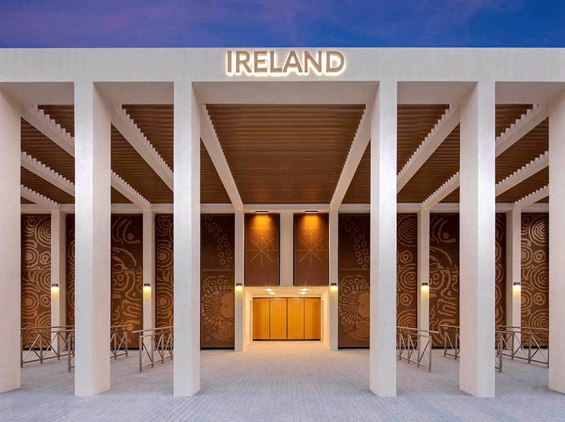 Work on the Irish pavilion located in the Mobility District, near Jubilee Park, has been completed at the Expo 2020 Dubai site. Exhibition installation is scheduled for the first week in June with soft furnishing complete by the end of June. Courtesy: Embassy of Ireland